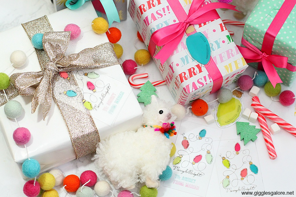 Colorful diy gift tags with cricut