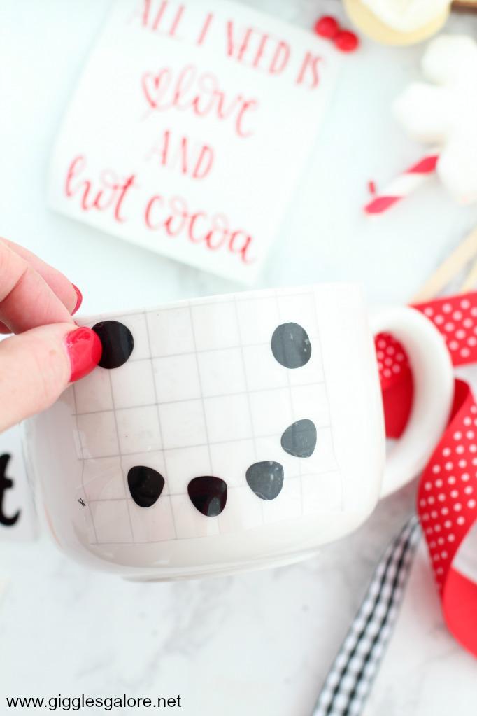 Cricut diy snowman mug