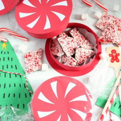 DIY Peppermint Favor Box with Cricut
