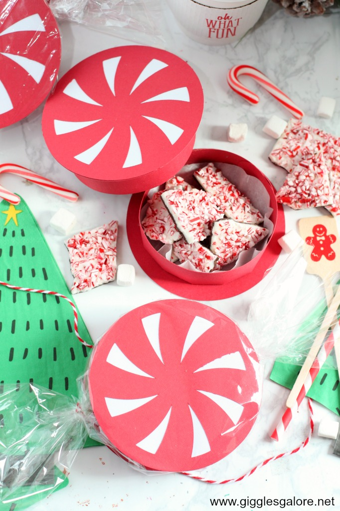 Cricut explore air 2 peppermint favor box