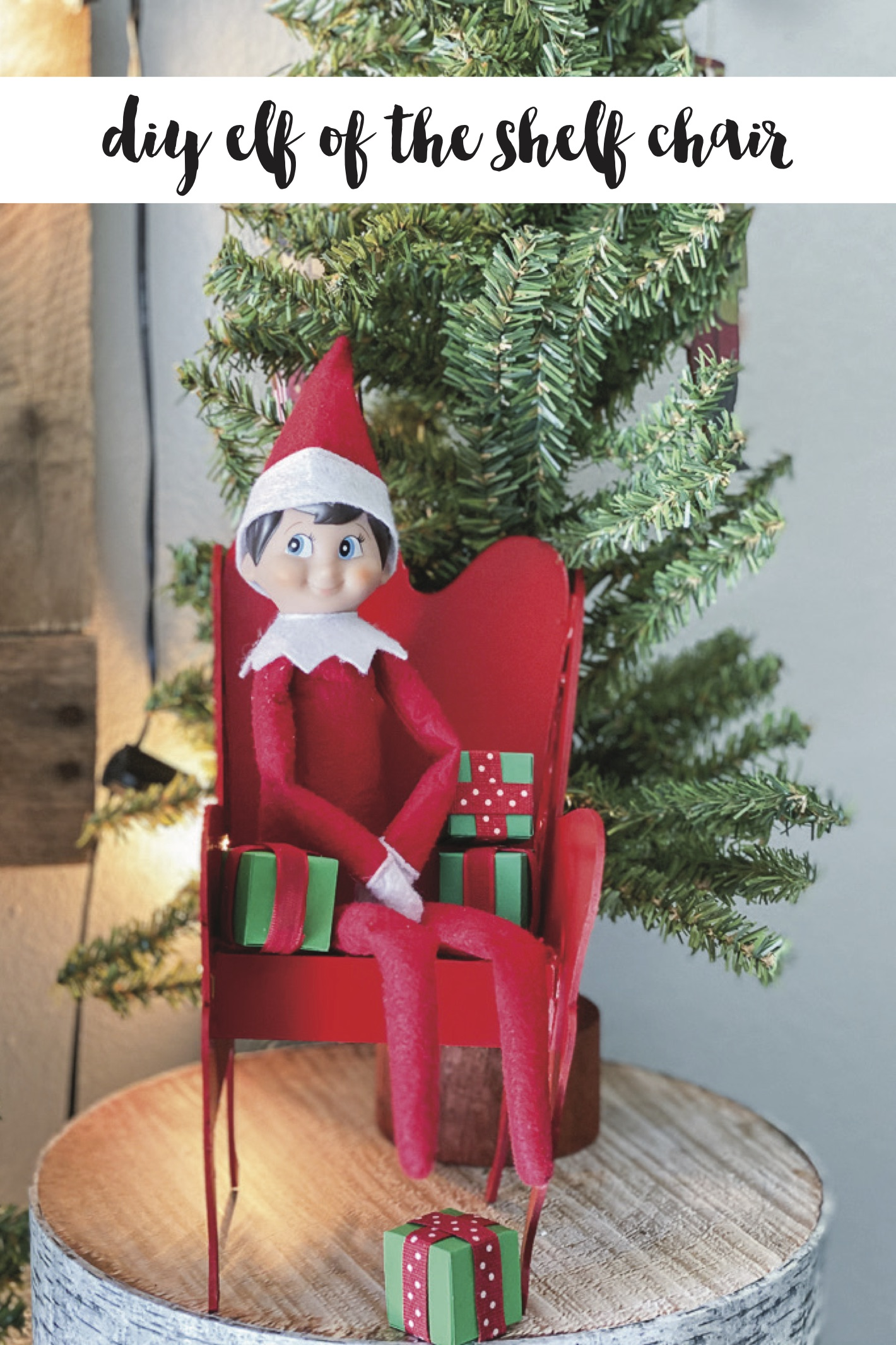 Diy elf on the shelf chair copy
