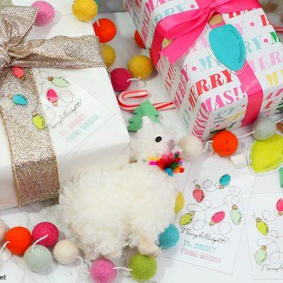 Diy engraved holiday gift tags