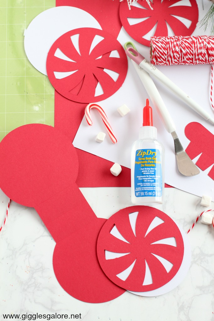 Diy peppermint favor box cricut supplies