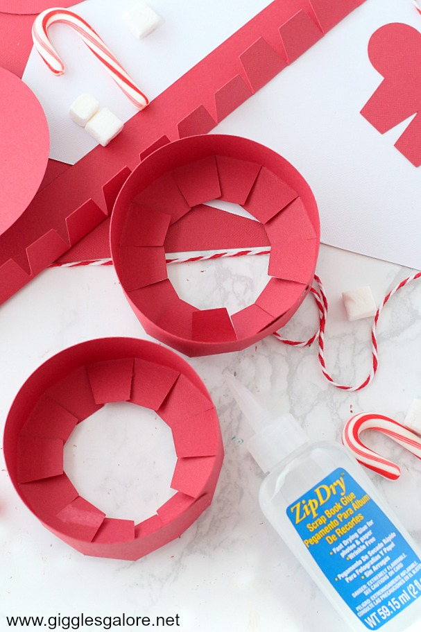 Diy peppermint favor box step 2