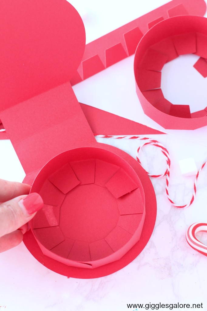 Diy peppermint favor box step 3