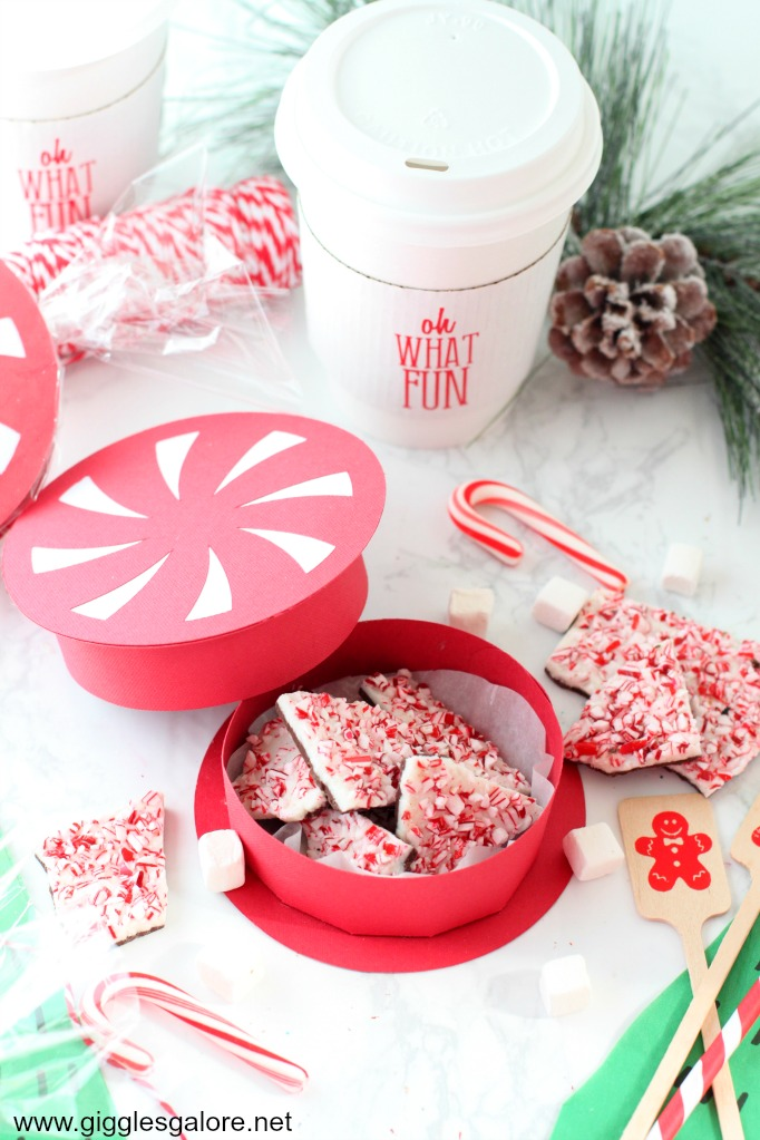 Diy peppermint favor box