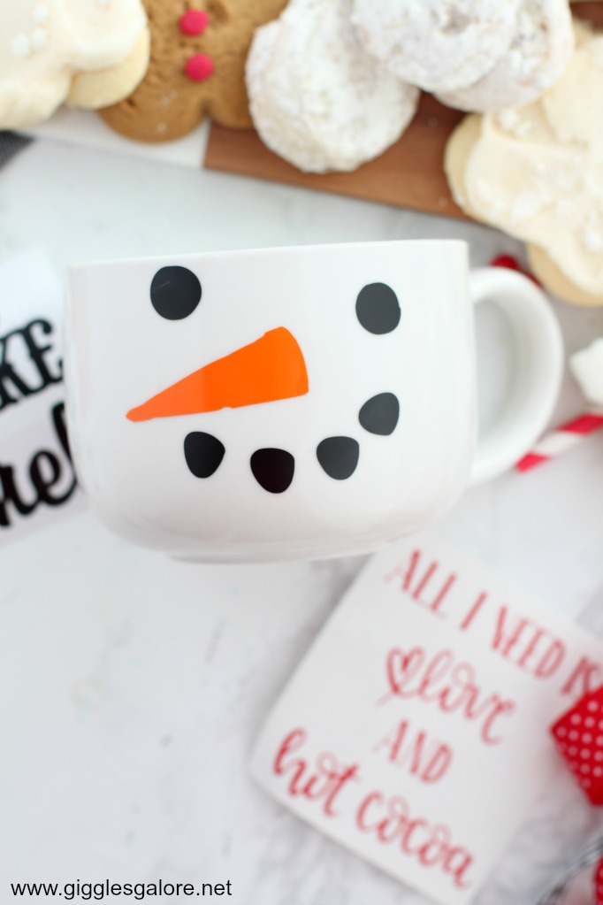 Diy snowman mug cricut svg file