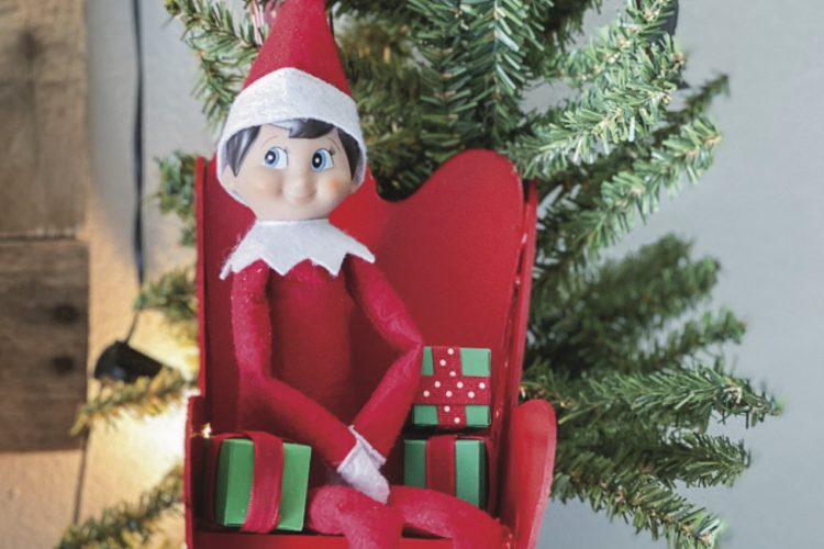 Elf on the shelf chair and gifts copy