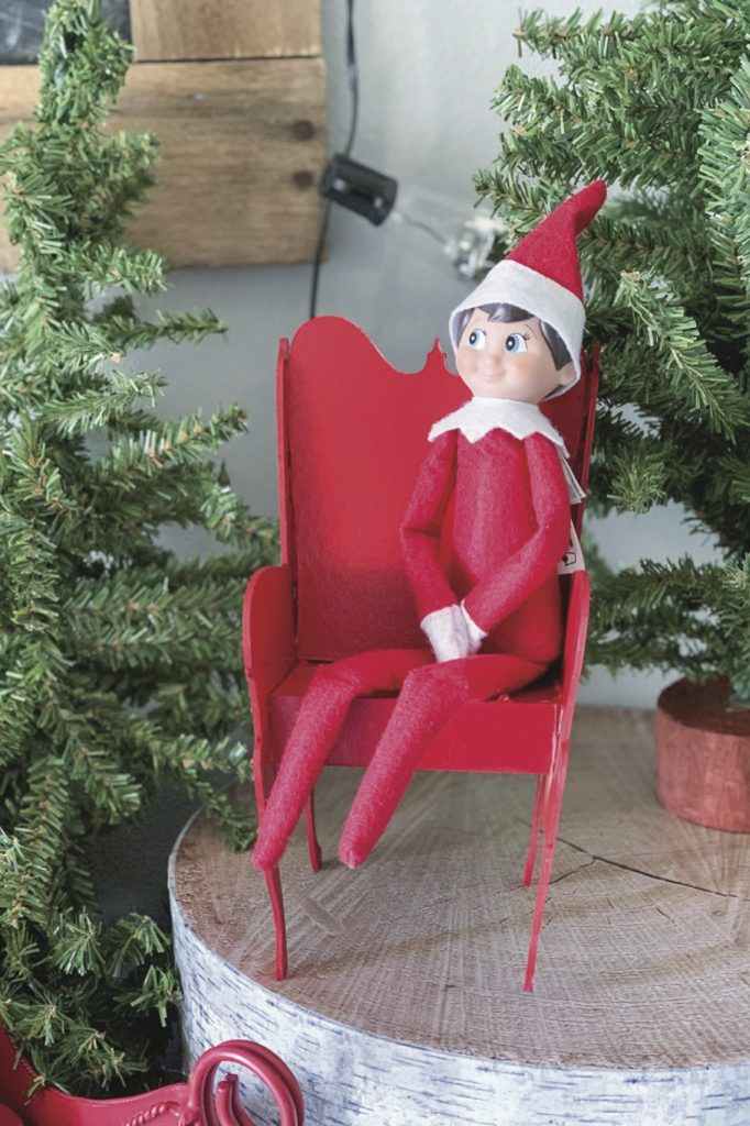 Elf on the shelf red chair copy