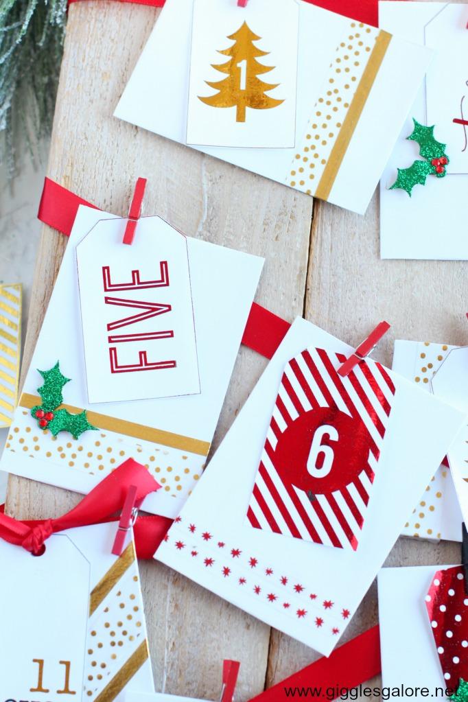 Envelopes for activity advent calendar