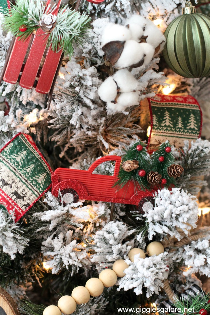 Farmhouse vintage truck ornaments