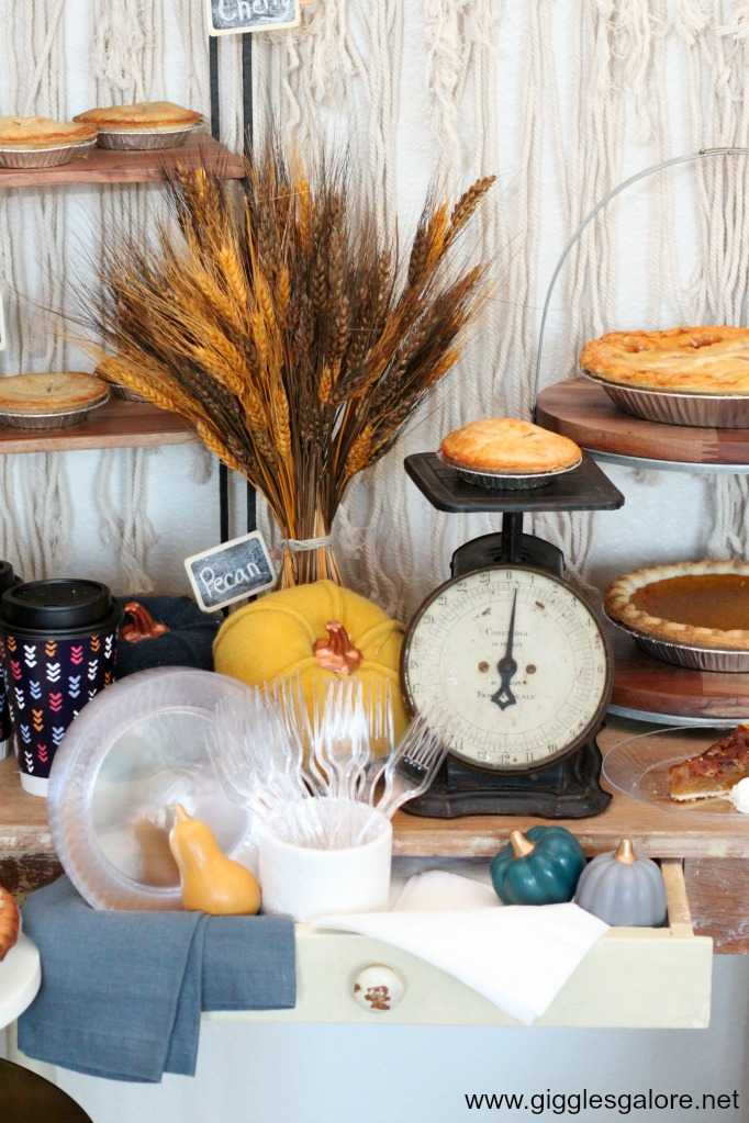 Friendsgiving pie party with chinet products