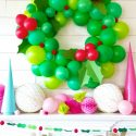 Giant balloon holiday wreath