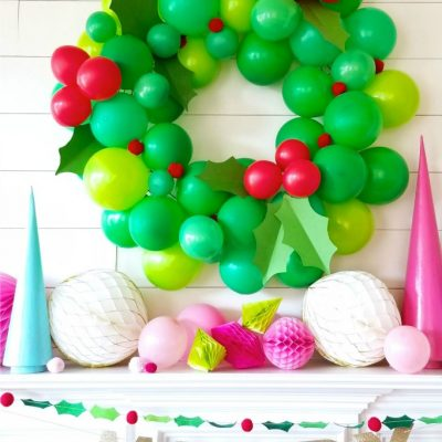 Giant DIY Balloon Christmas Wreath