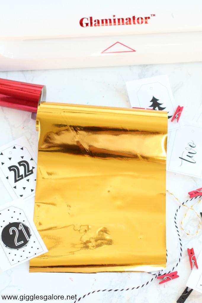 Glaminator gold foil