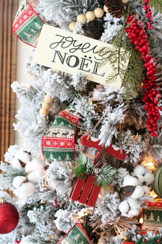 Homemade joyeux noel ornament