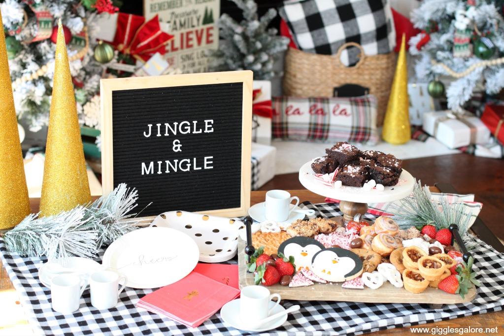 Jingle and mingle dessert spread