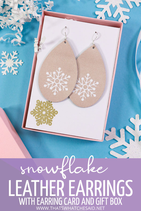 Leather earrings with gift box