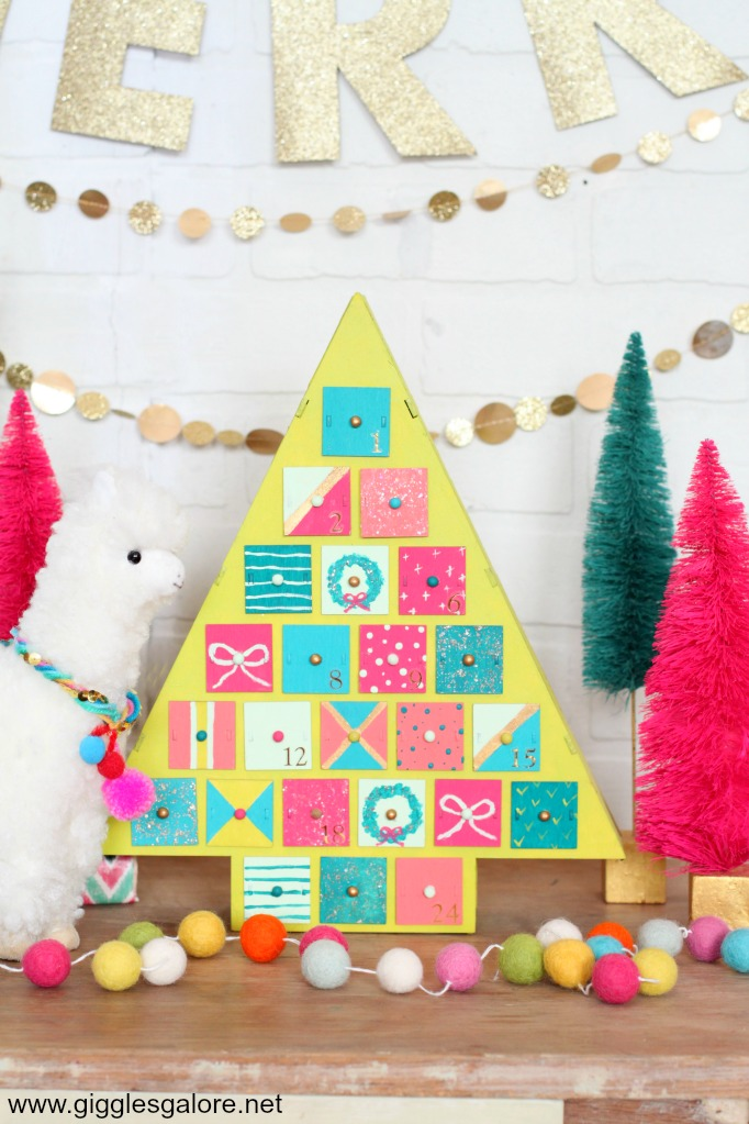 Modern christmas tree advent calendar