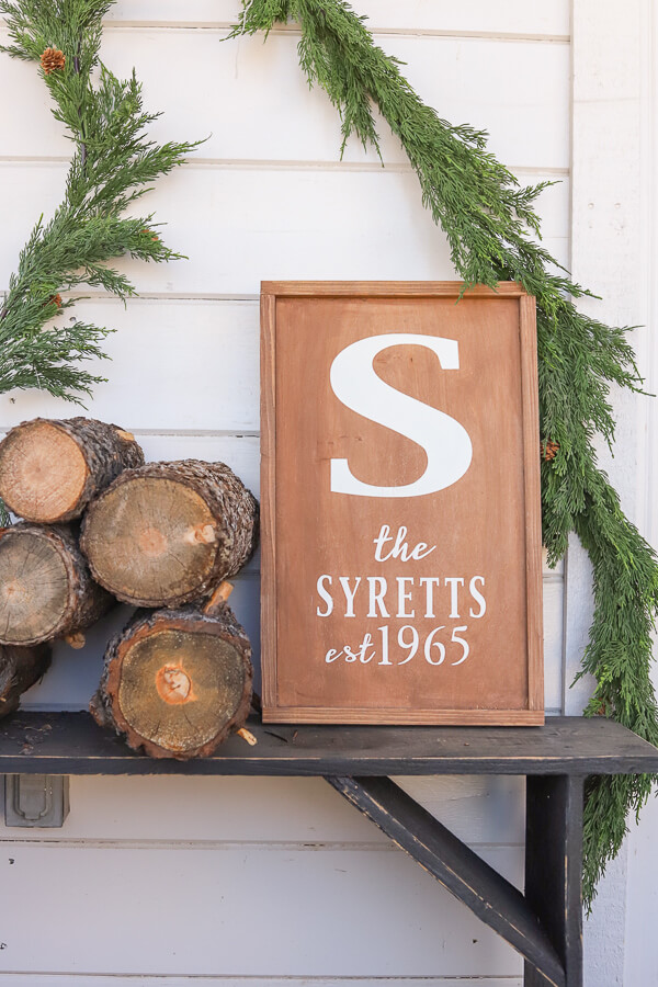 Monogram wood sign personalized christmas gift 2