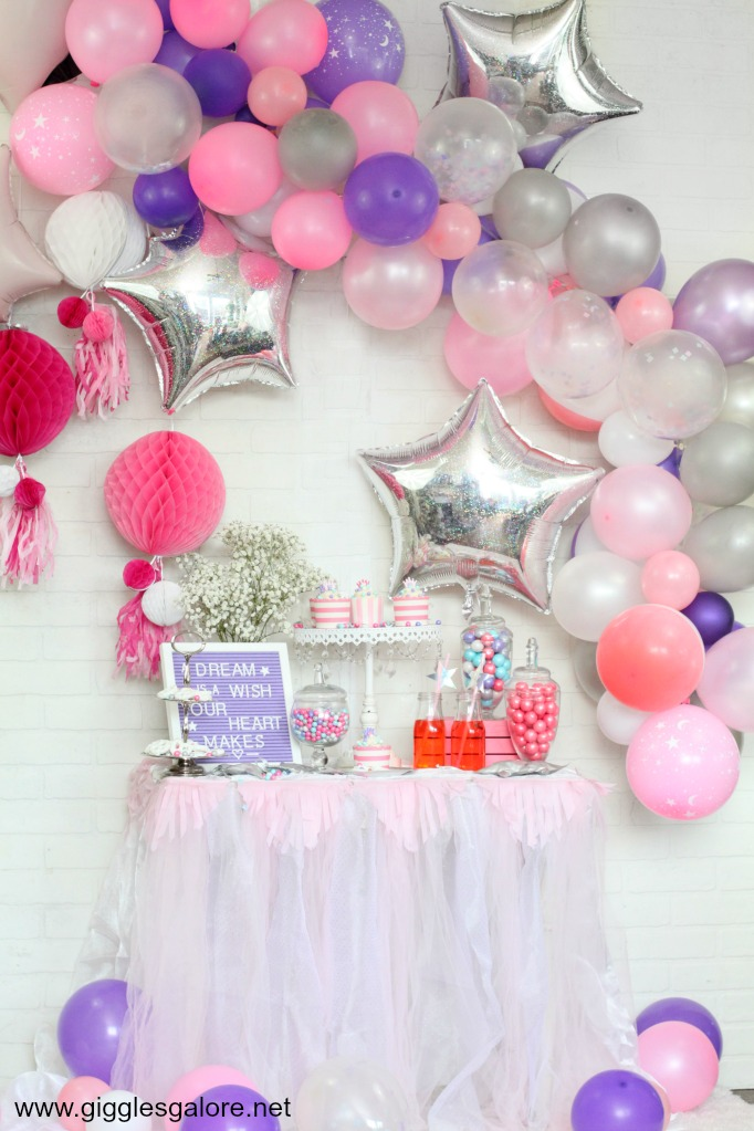 Pink and purple princess party ideas