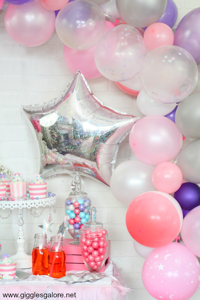 Princess balloon garland