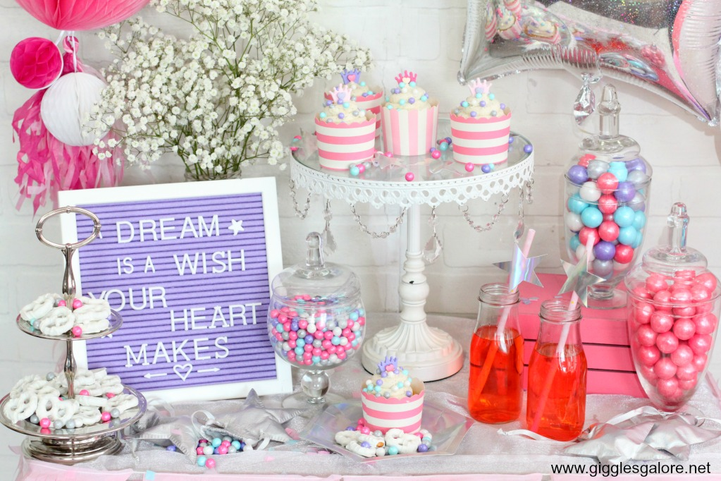 Princess party candy bar