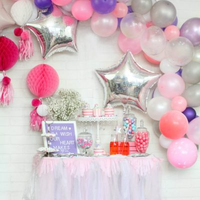 Pink and Purple Princess Party Candy Bar