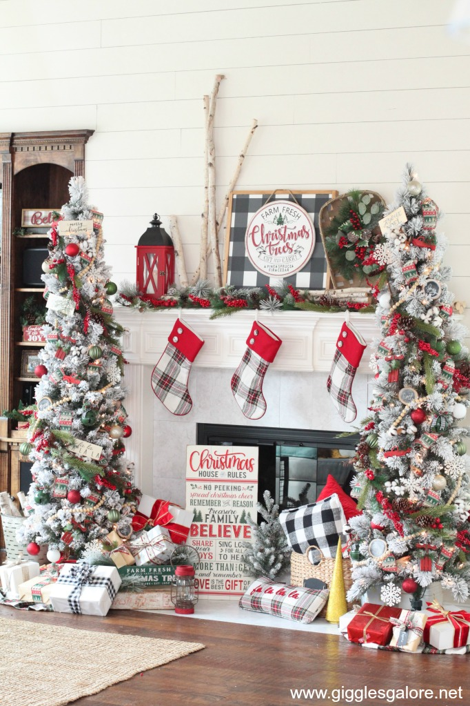 Rustic and cozy farmhouse christmas trees dream tree challenge
