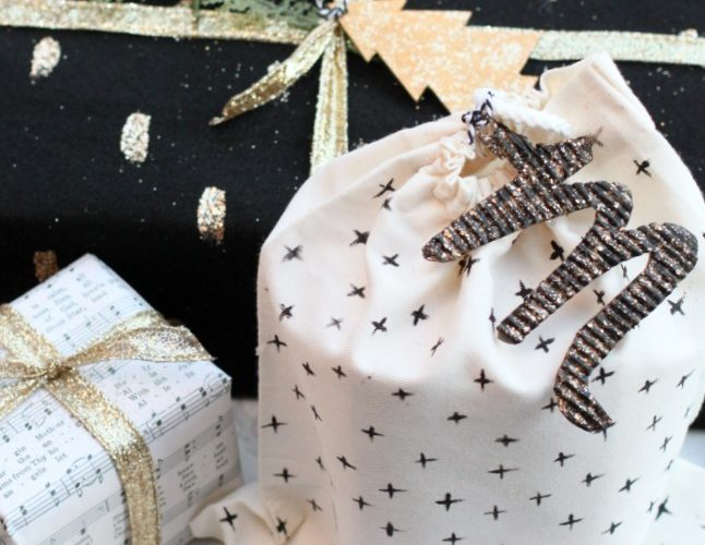 Diy modern sustainable wrapping paper