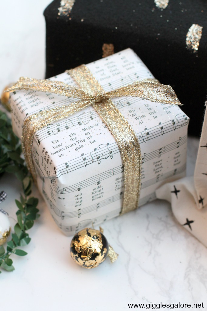 Diy sheet music wrapping paper