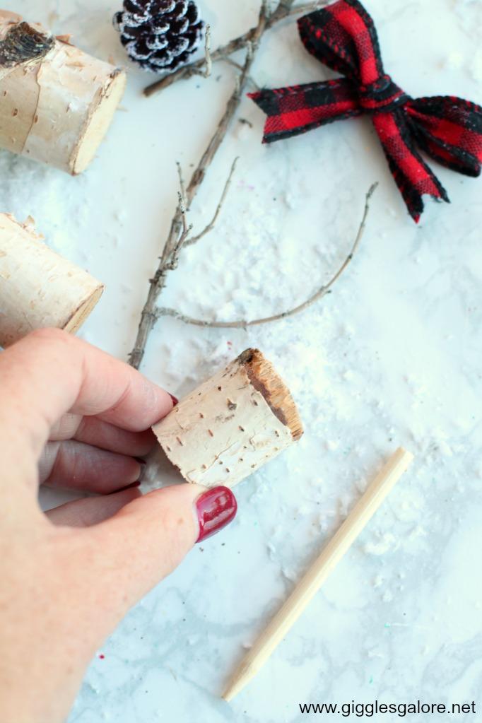 Diy wooden reindeer step 1