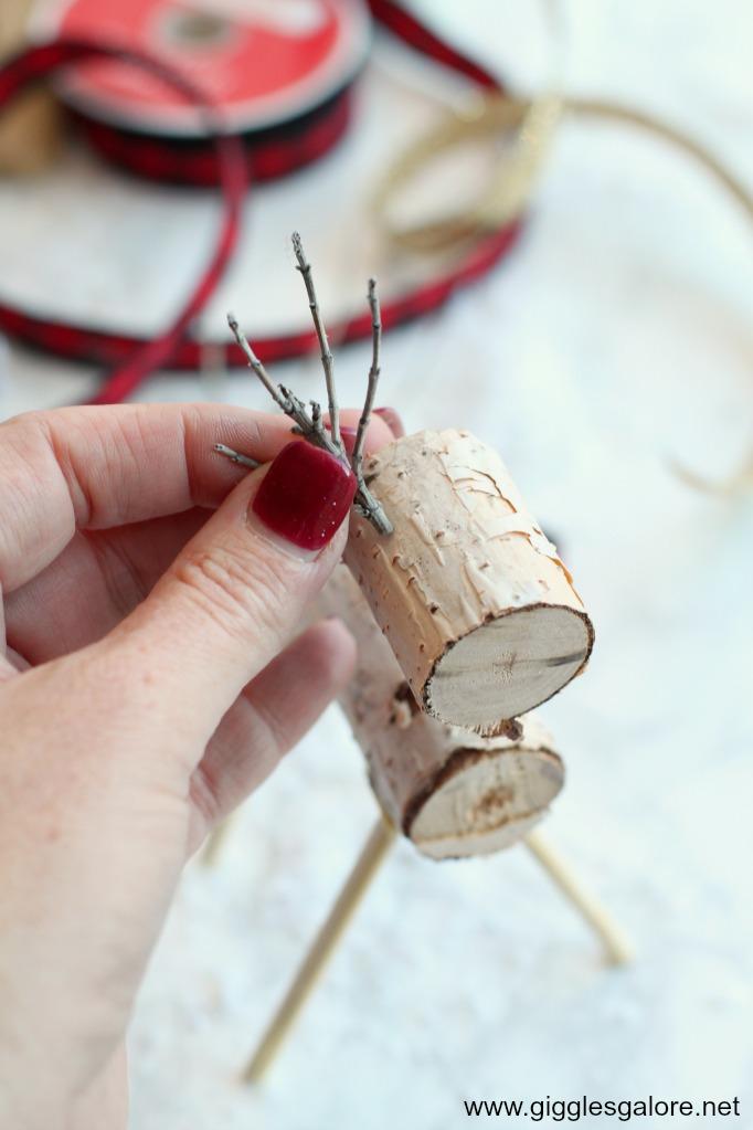 Diy wooden reindeer step 3