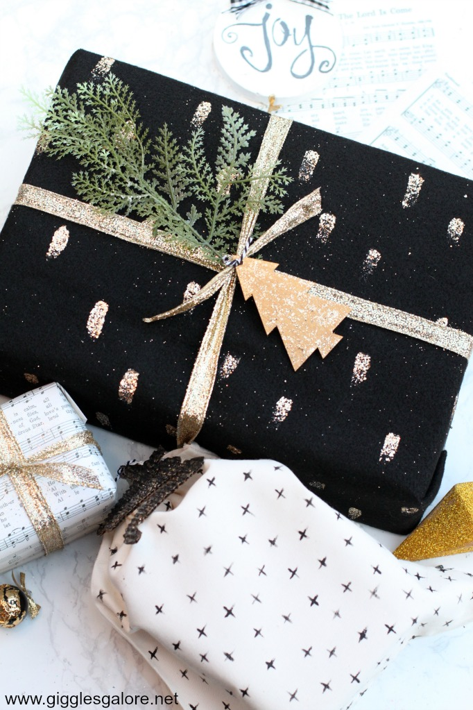 Modern diy painted gift wrap