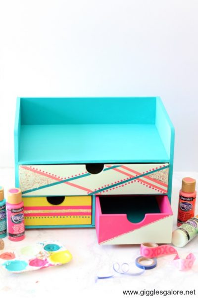 Colorful color block desk organizer