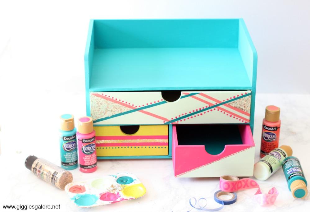 Colorful desk organizer