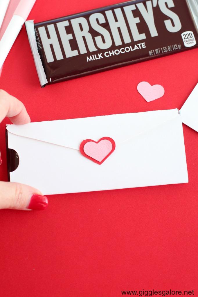 Cricut heart candy bar wrapper
