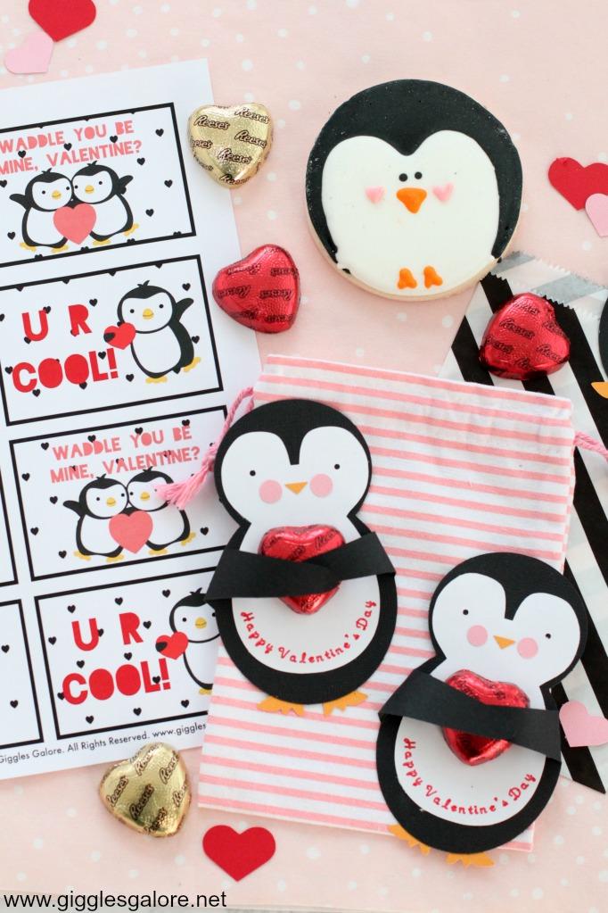 Cricut made penguin valentine cards