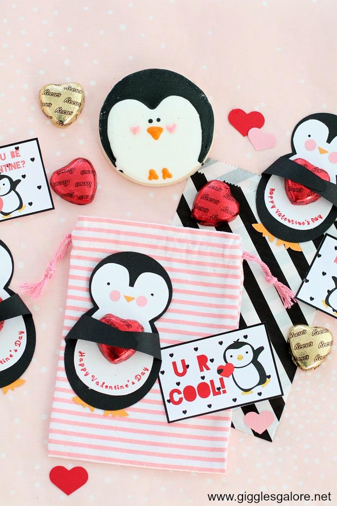 Diy penguin valentines day cards