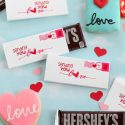 Love postcard candy wrapper diy