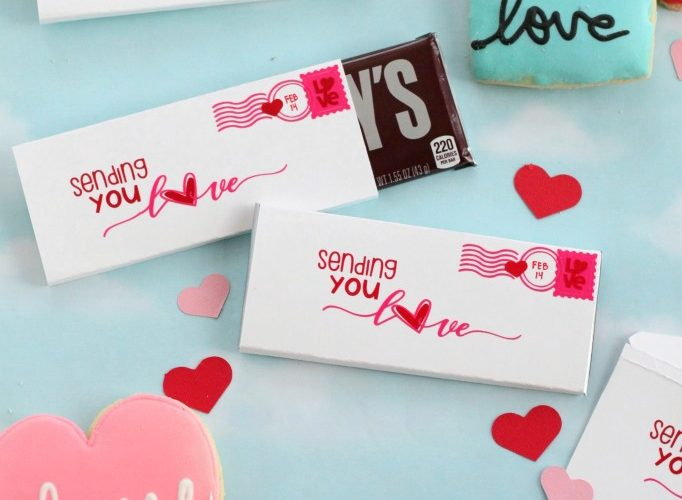 Love postcard candy wrapper diy