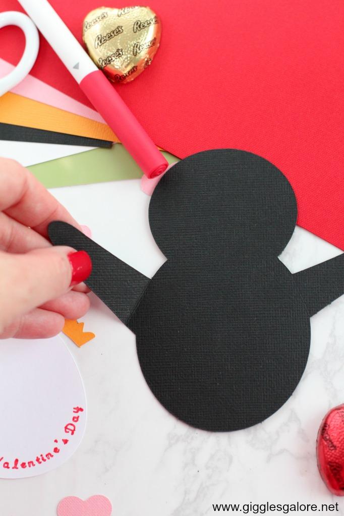 Penguin valentine card step 1