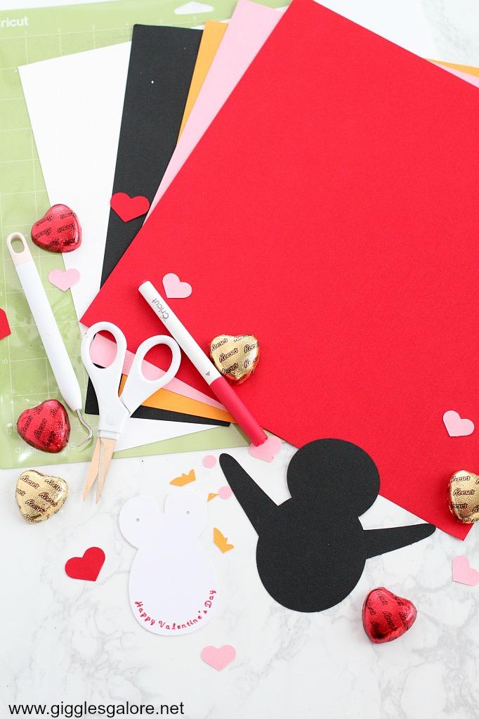 Penguin valentine card supplies