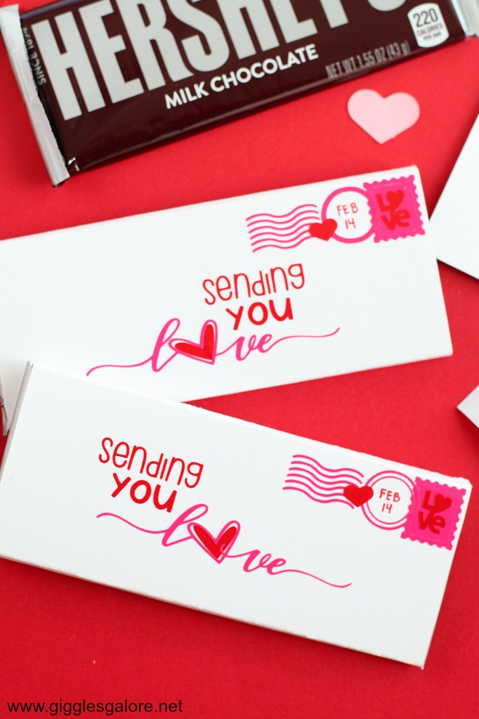 Sending you love candy bar wrapper