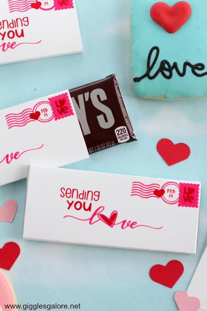 Sending you love cricut candy bar valentine