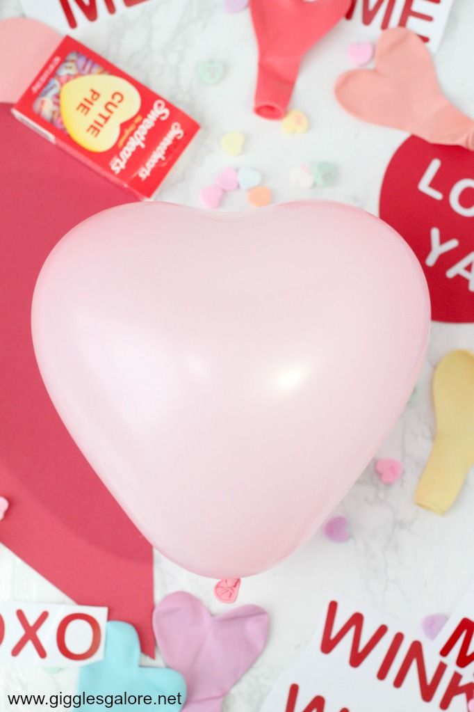 Conversation heart balloon