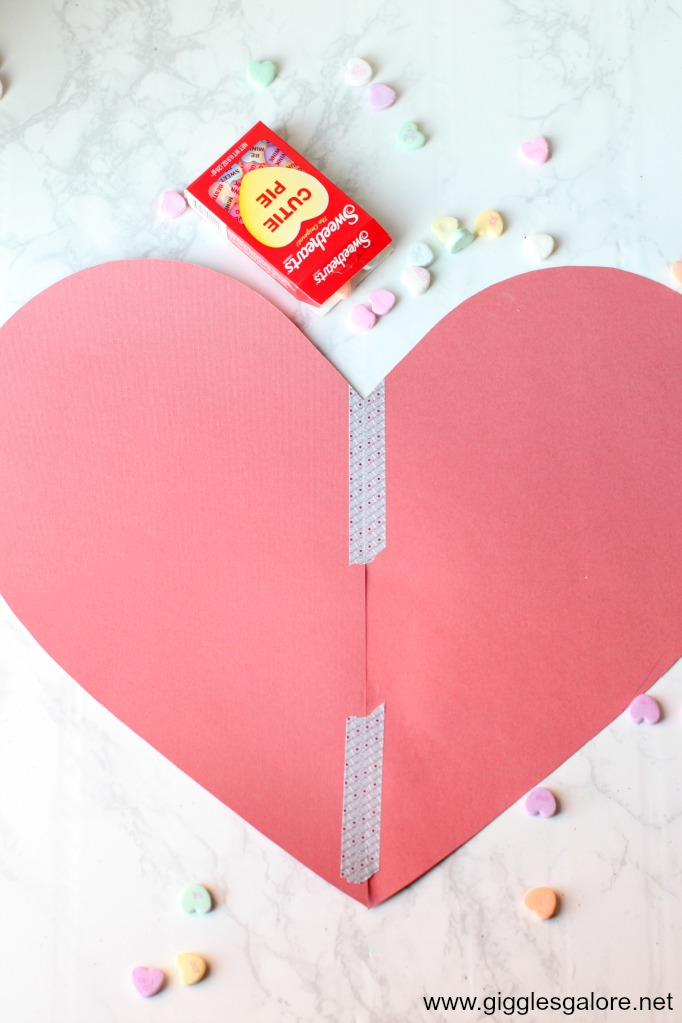 Conversation heart box template