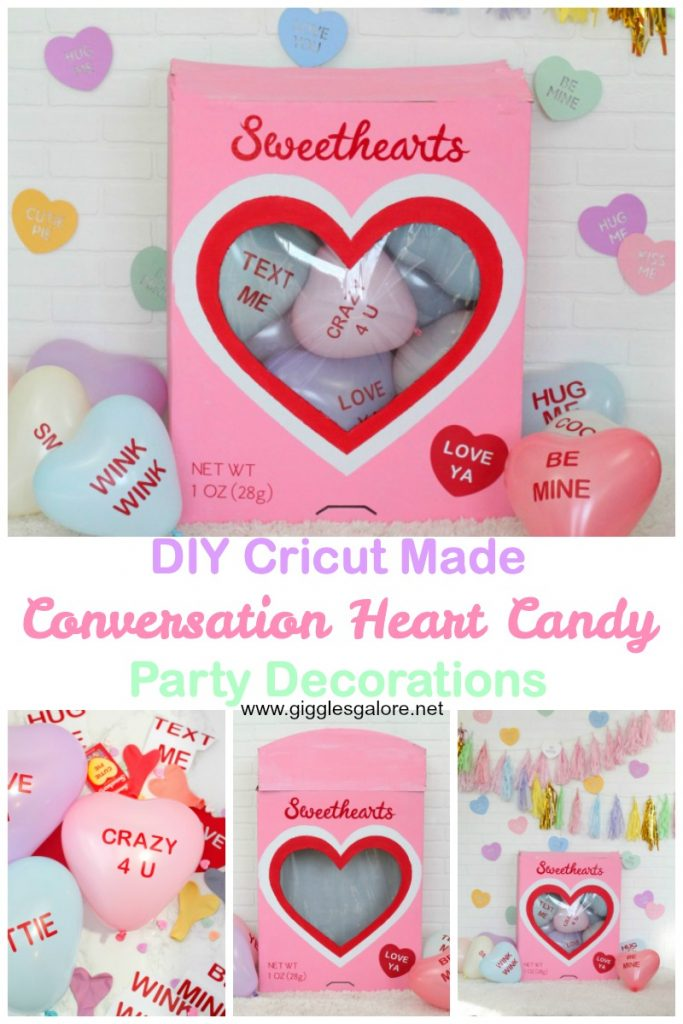 Conversation heart candy party decorations pinterest