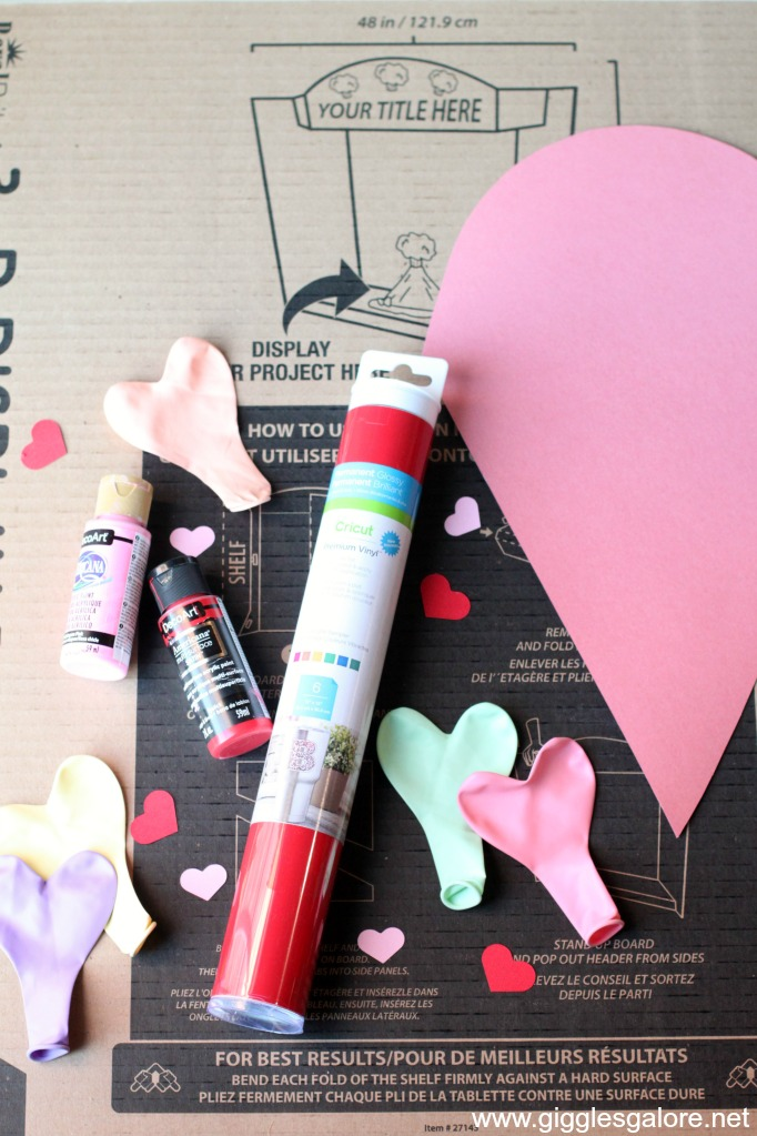 Diy conversation heart candy box supplies