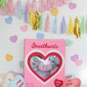 Diy conversation heart party backdrop